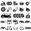 Auto repair icons set of vector illustration Royalty Free Stock Photography