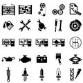 Auto repair icons set of vector illustration Royalty Free Stock Image