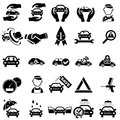 Auto repair icons set of vector illustration Stock Photography