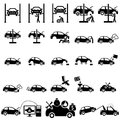 Auto repair icons set of vector illustration Royalty Free Stock Photos