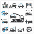 Auto repair icons vector set for you design Royalty Free Stock Photos