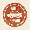 Auto repair seal over vintage background vector illustration Stock Image