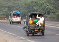 Auto rickshaw on indian road agra india november in agra india nov Stock Photos