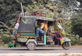 Auto rickshaw on indian road agra india november in agra india nov Royalty Free Stock Photography