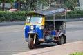 Auto rickshaw or tuk-tuk on the street of Bangkok. Thailand