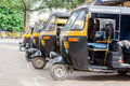 Auto rickshaws mysore india july th a row of waiting for passengers Stock Image