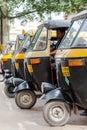 Auto rickshaws mysore india july th a row of waiting for passengers Stock Photos