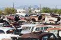 Auto Salvage Yard Royalty Free Stock Photo