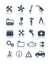 Auto service icons editable vector set Stock Photos