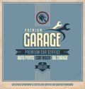 Auto service vintage poster design Royalty Free Stock Photo