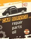 Auto Service Vintage Style Poster