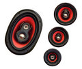 Auto sound loud speaker system Royalty Free Stock Photo