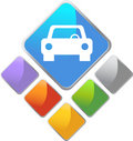 Auto Square Icon Stock Photos