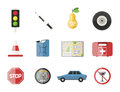 Auto transport motorist icon symbol vehicle equipment service car driver tools vector illustration.