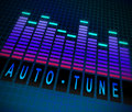 Auto tune concept illustration depicting graphic equalizer level bars with an Royalty Free Stock Images