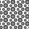 Auto wheels seamless pattern with isolated on white background Stock Photography