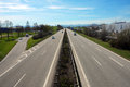 Autobahn view of the in germany Royalty Free Stock Photo