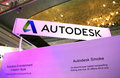 Autodesk exhibition logo at in singapore Stock Photo