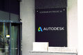 Autodesk munich sign infront of the offices of Royalty Free Stock Image
