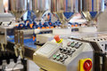 Automated bread production line in bakery Royalty Free Stock Images