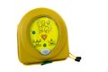 Automated external defibrillator or aed an in his case isolated on white Stock Photo