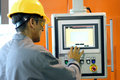 Automated Machine Operator Royalty Free Stock Photo