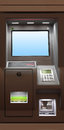 Automated teller machine modern with lcd display Stock Images