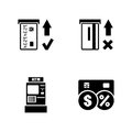 Automated teller machine. Simple Related Vector Icons