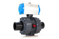 Automated valve jpg plastic pneumatic automator Royalty Free Stock Image