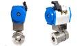 Automated valve jpg plastic pneumatic automator Royalty Free Stock Photo