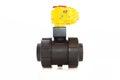 Automated valve jpg plastic pneumatic automator Stock Image