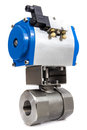 Automated valve jpg plastic pneumatic automator Royalty Free Stock Images