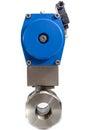 Automated valve jpg plastic pneumatic automator Royalty Free Stock Photos