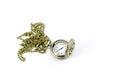 Automatic clock locket gothic lolita necklace isolated over white background Stock Photos