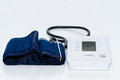 Automatic digital blood pressure monitoring meter Royalty Free Stock Photo