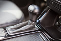 Automatic gear close up vehicle interior car Royalty Free Stock Image