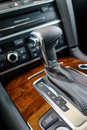 Automatic gear shift handle Stock Image