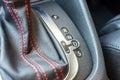 Automatic gear shift modern sport car Royalty Free Stock Photo