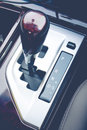 Automatic gearshift in black and white. Royalty Free Stock Photo
