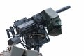 Automatic grenade launcher a photo taken on an or machine gun mounted on a military vehicle Royalty Free Stock Images