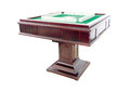Automatic mahjong table with clipping path Stock Image