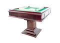 Automatic mahjong table with clipping path Stock Photos