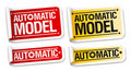 Automatic model stickers. Stock Photo