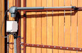 automatic opening/closing a gate Royalty Free Stock Photo