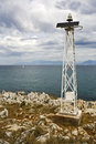 Automatic solar powered ship signal tower Stock Image