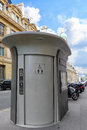 Automatic toilet on the street in paris france Stock Image