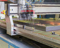 Automatic welding process in the production of Stock Image