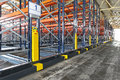 Automation warehouse powered mobile shelving system in distribution Royalty Free Stock Photos