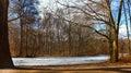 Automn lake a nice orange setting shot in in tiergarten berlin Stock Images