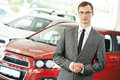 Automobile car dealer salespersom manager Royalty Free Stock Photo